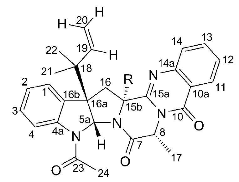 5-N-acetylardeemin and 5-N-Acetyl-15bb-hydroxyardeemin